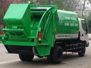 nâng cuốn ép rác tự động sử dụng trên xe ép rác Hino 6 khối